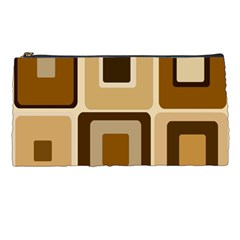 Retro Coffee Squares Pencil Case