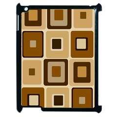 Retro Coffee Squares Apple iPad 2 Case (Black)