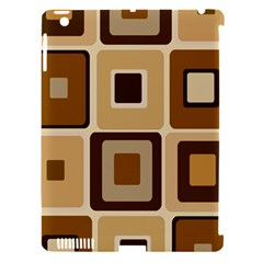 Retro Coffee Squares Apple Ipad 3/4 Hardshell Case (compatible With Smart Cover)