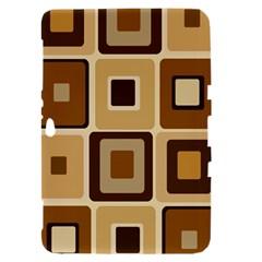 Retro Coffee Squares Samsung Galaxy Tab 8.9  P7300 Hardshell Case