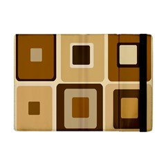 Retro Coffee Squares Apple Ipad Mini Flip Case