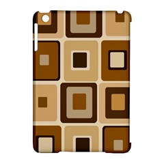 Retro Coffee Squares Apple iPad Mini Hardshell Case (Compatible with Smart Cover)