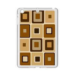 Retro Coffee Squares Apple iPad Mini 2 Case (White)