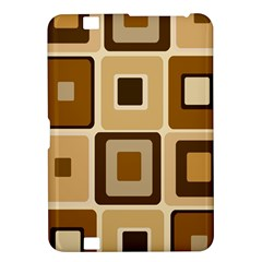 Retro Coffee Squares Kindle Fire HD 8.9  Hardshell Case