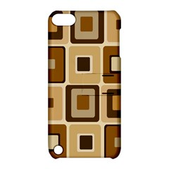 Retro Coffee Squares Apple iPod Touch 5 Hardshell Case with Stand