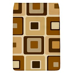 Retro Coffee Squares Removable Flap Cover (small)