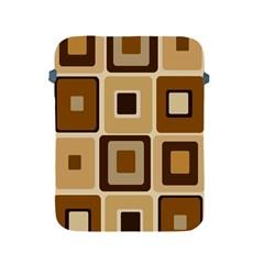 Retro Coffee Squares Apple Ipad Protective Sleeve