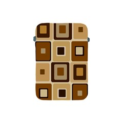Retro Coffee Squares Apple Ipad Mini Protective Sleeve
