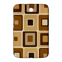 Retro Coffee Squares Samsung Galaxy Note 8.0 N5100 Hardshell Case