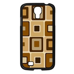 Retro Coffee Squares Samsung Galaxy S4 I9500/ I9505 Case (Black)