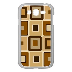 Retro Coffee Squares Samsung Galaxy Grand Duos I9082 Case (white)