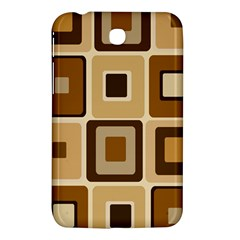 Retro Coffee Squares Samsung Galaxy Tab 3 (7 ) P3200 Hardshell Case