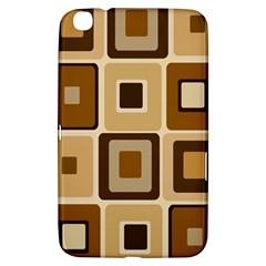 Retro Coffee Squares Samsung Galaxy Tab 3 (8 ) T3100 Hardshell Case