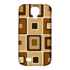 Retro Coffee Squares Samsung Galaxy S4 Classic Hardshell Case (PC+Silicone)