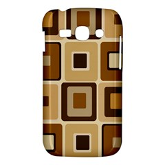 Retro Coffee Squares Samsung Galaxy Ace 3 S7272 Hardshell Case