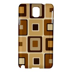Retro Coffee Squares Samsung Galaxy Note 3 N9005 Hardshell Case
