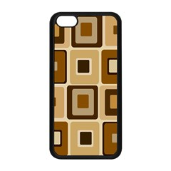 Retro Coffee Squares Apple iPhone 5C Seamless Case (Black)
