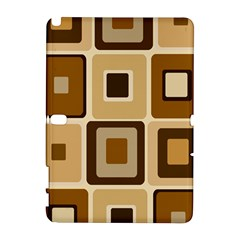 Retro Coffee Squares Samsung Galaxy Note 10.1 (P600) Hardshell Case