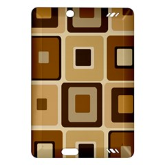 Retro Coffee Squares Kindle Fire HD 7  (2nd Gen) Hardshell Case