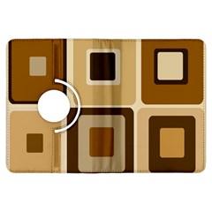 Retro Coffee Squares Kindle Fire Hdx 7  Flip 360 Case