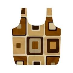 Retro Coffee Squares Reusable Bag (m)