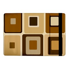 Retro Coffee Squares Samsung Galaxy Tab Pro 10.1  Flip Case