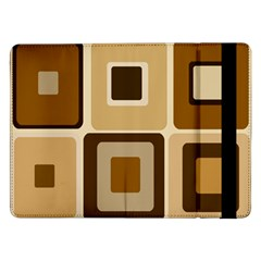 Retro Coffee Squares Samsung Galaxy Tab Pro 12.2  Flip Case