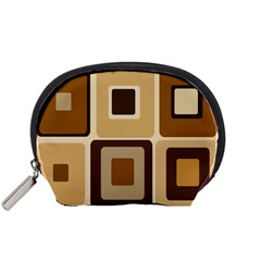 Retro Coffee Squares Accessories Pouch (Small)
