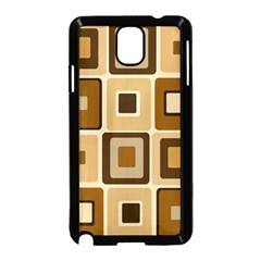 Retro Coffee Squares Samsung Galaxy Note 3 Neo Hardshell Case (Black)