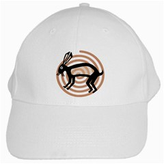 Mimbres Rabbit White Baseball Cap