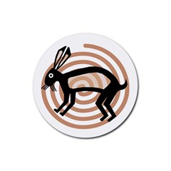 Mimbres Rabbit Drink Coasters 4 Pack (round)