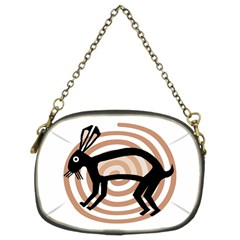 Mimbres Rabbit Chain Purse (two Sided)