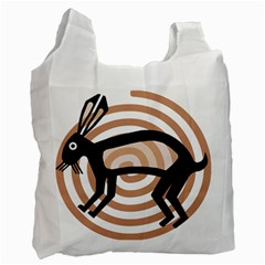 Mimbres Rabbit White Reusable Bag (One Side)