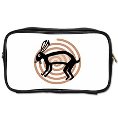 Mimbres Rabbit Travel Toiletry Bag (two Sides)