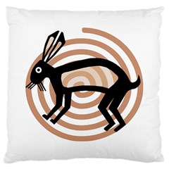 Mimbres Rabbit Large Cushion Case (Single Sided)