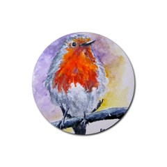 Robin Red Breast Drink Coasters 4 Pack (Round)