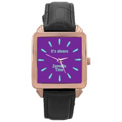 Always Time for Zeppelin Rose Gold Leather Watch
