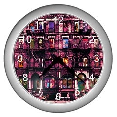Physical Graffitied Wall Clock (silver)
