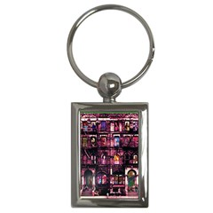 Physical Graffitied Key Chain (rectangle)