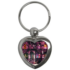 Physical Graffitied Key Chain (Heart)