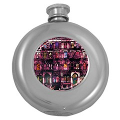 Physical Graffitied Hip Flask (round)