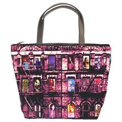 Physical Graffitied Bucket Handbag