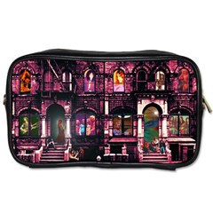Physical Graffitied Travel Toiletry Bag (one Side)