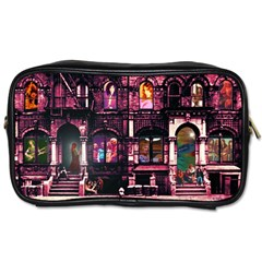 Physical Graffitied Travel Toiletry Bag (Two Sides)