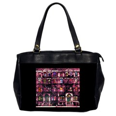 Physical Graffitied Oversize Office Handbag (two Sides)