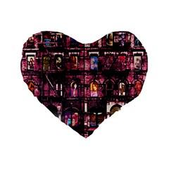 Physical Graffitied 16  Premium Heart Shape Cushion