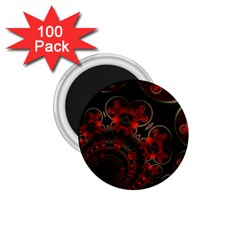 Phenomenon, Orange Gold Cosmic Explosion 1.75  Button Magnet (100 pack)
