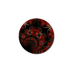 Phenomenon, Orange Gold Cosmic Explosion Golf Ball Marker