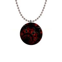 Phenomenon, Orange Gold Cosmic Explosion Button Necklace