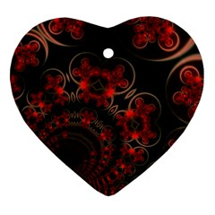 Phenomenon, Orange Gold Cosmic Explosion Heart Ornament (two Sides)